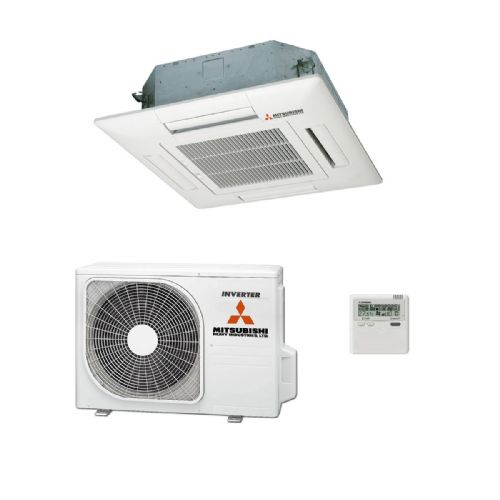 Mitsubishi Heavy Industries Air Conditioning FDT50VH Cassette 5Kw/17000Btu R32 Install Pack